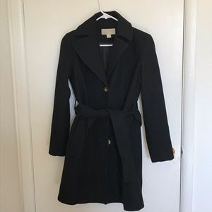 MICHAEL MICHAEL KORS Wool-Blend Belted Coat